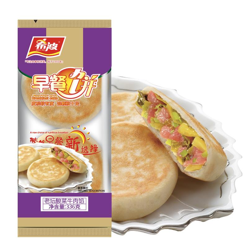 四粒装老坛酸菜牛肉早餐饼