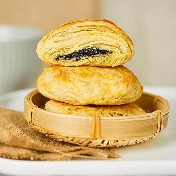 黑芝麻馅酥饼