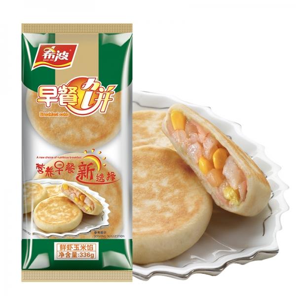 四粒装鲜虾玉米早餐饼