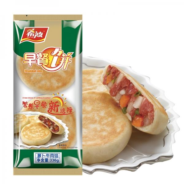 四粒装萝卜牛肉早餐饼