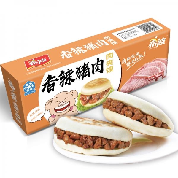 盒装香辣猪肉肉夹馍