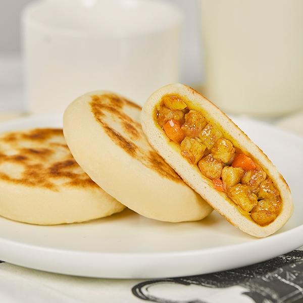 超值装咖喱鸡肉馅早餐饼